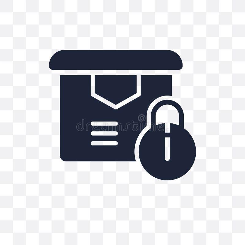 ícone transparente da segurança da entrega projeto do símbolo da segurança da entrega ilustração do vetor