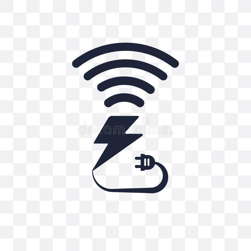Ícone transparente de carregamento sem fio DES de carregamento sem fio do símbolo ilustração do vetor
