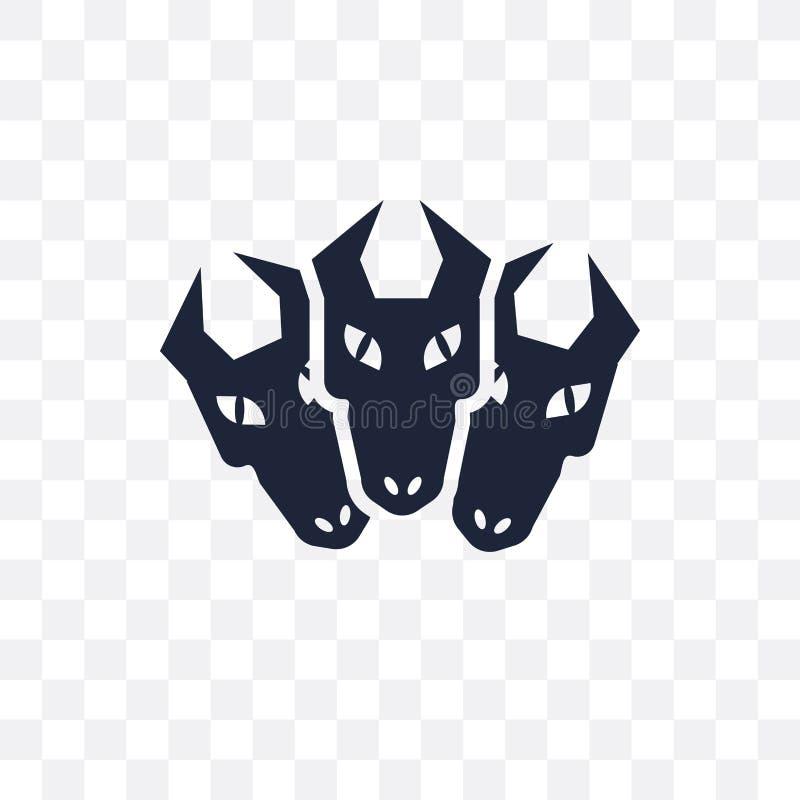 Ícone transparente de Cerberus Projeto do símbolo de Cerberus de tal feericamente ilustração stock