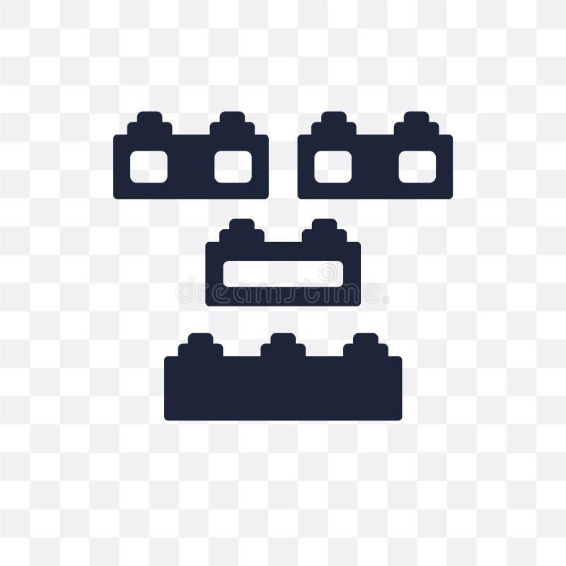 Ícone transparente de Lego Projeto do símbolo de Lego do colo do entretenimento ilustração do vetor