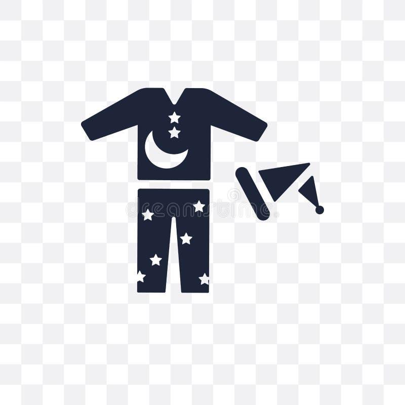 Ícone transparente de Pijama Projeto do símbolo de Pijama do colle da roupa ilustração stock