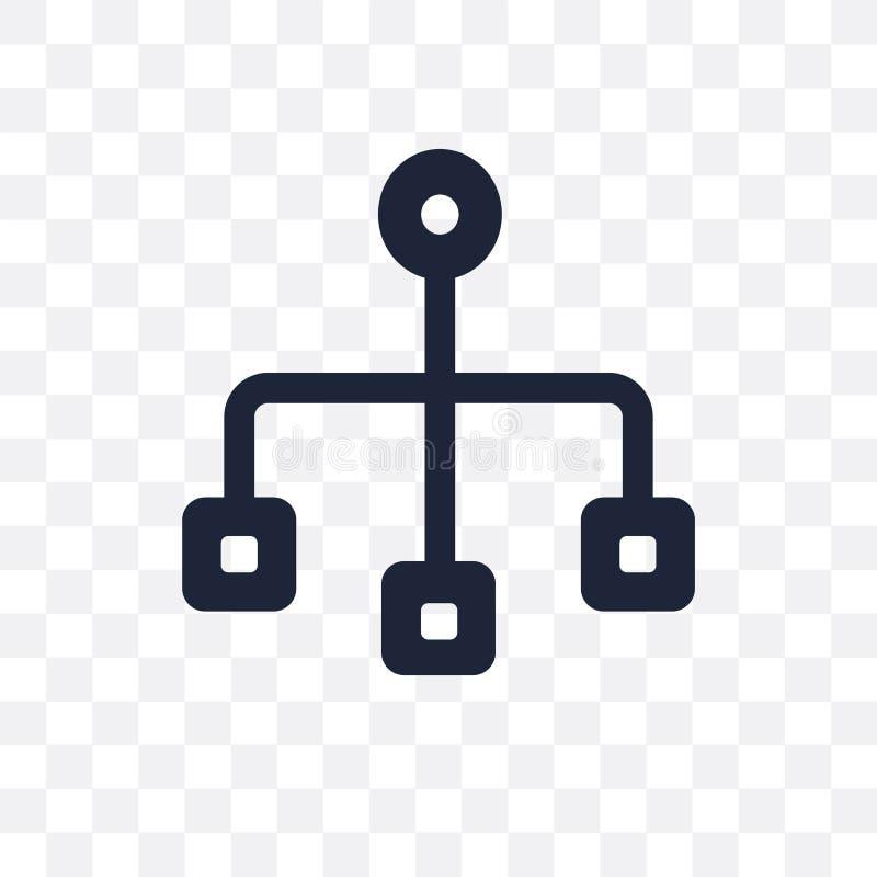 Ícone transparente de Sitemap Projeto do símbolo de Sitemap de SEO para recolher ilustração stock