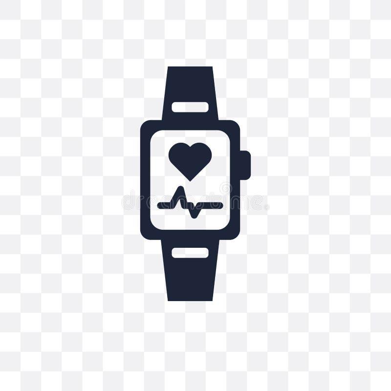 Ícone transparente de Smartband Projeto do símbolo de Smartband do eletro ilustração stock