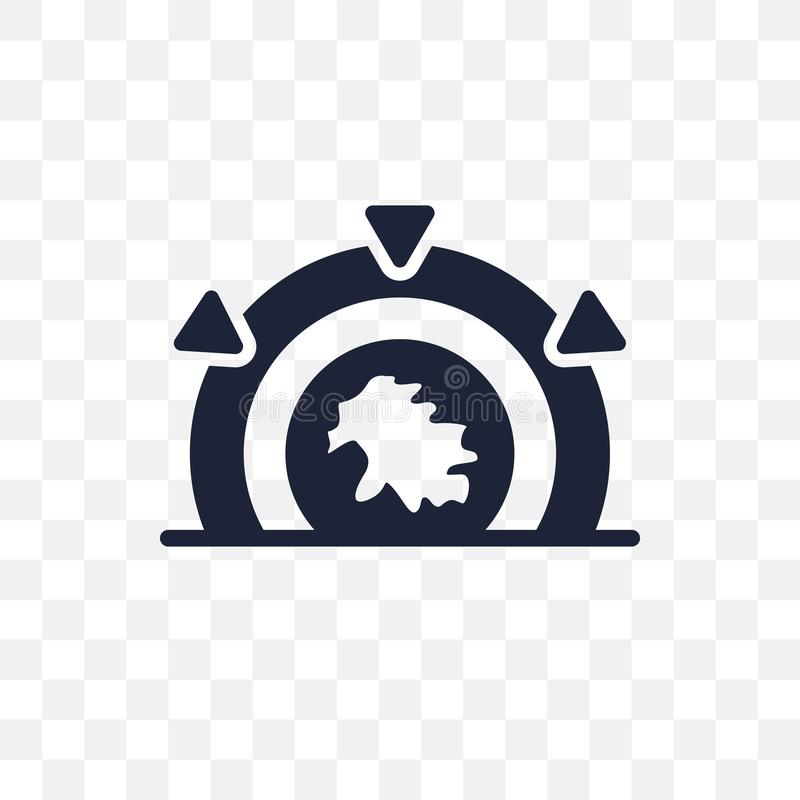 Ícone transparente de Stargate Projeto do símbolo de Stargate da astronomia ilustração royalty free