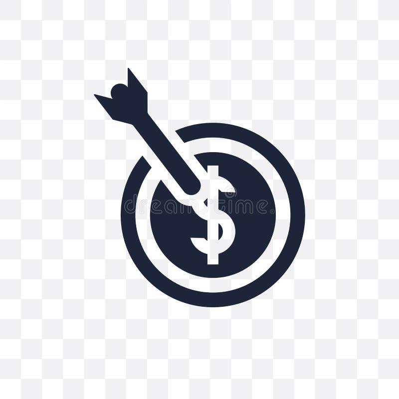 Ícone transparente do alvo Projeto do símbolo do alvo do coll da estratégia ilustração royalty free
