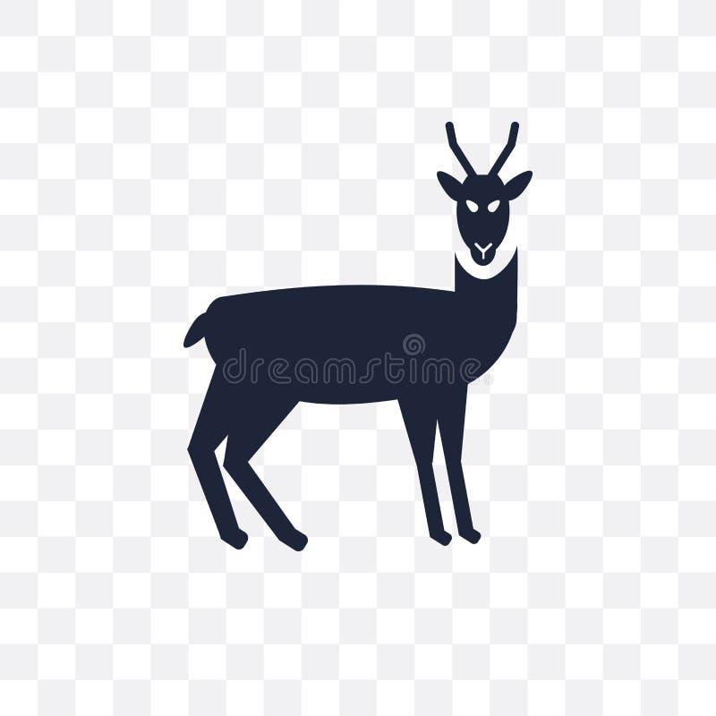 Ícone transparente do antílope Projeto do símbolo do antílope dos animais c ilustração do vetor