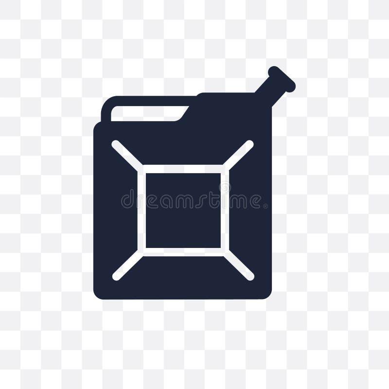 Ícone transparente do bidão Projeto do símbolo do bidão da indústria ilustração royalty free