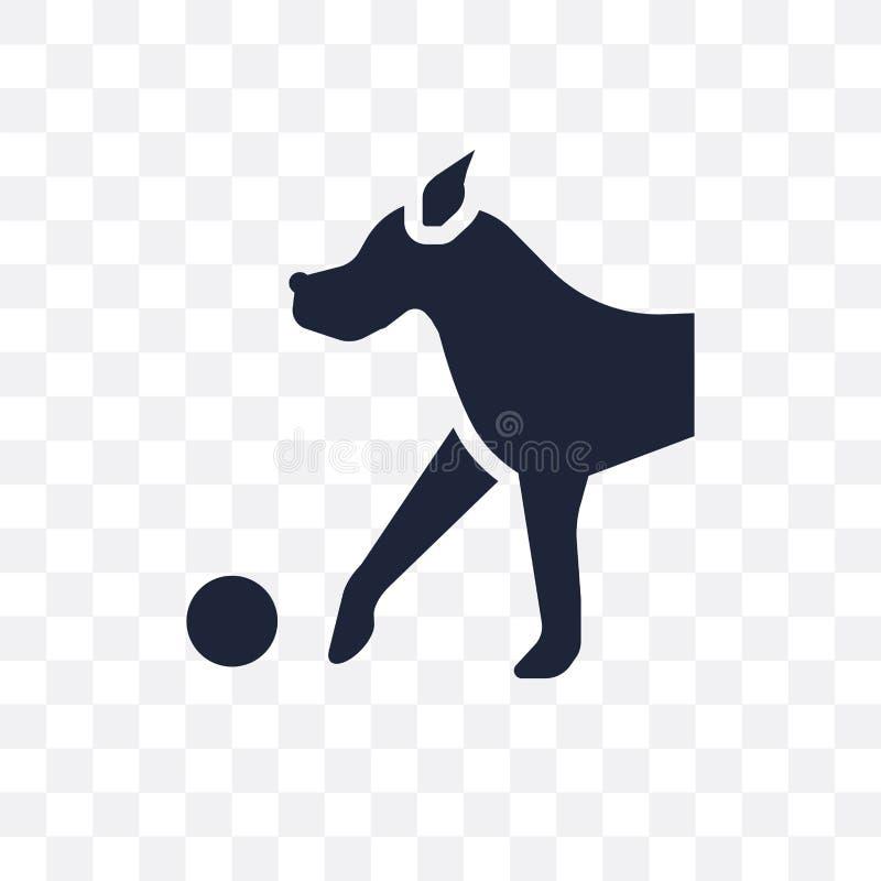 Ícone transparente do cão de great dane Projeto franco do símbolo do cão de great dane ilustração stock