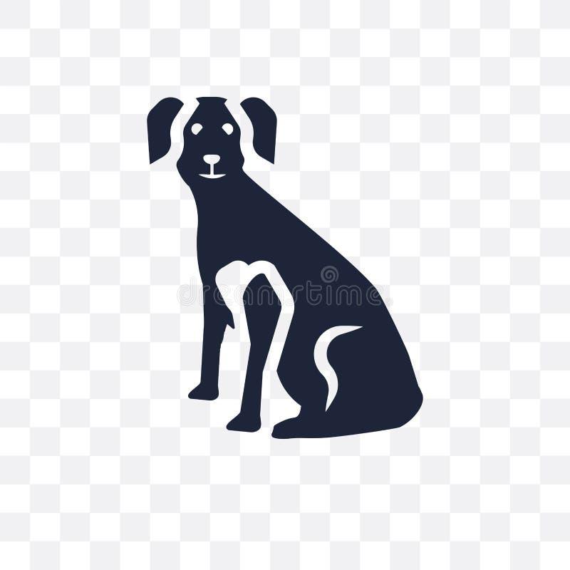 Ícone transparente do cão de Weimeraner Projeto franco do símbolo do cão de Weimeraner ilustração royalty free