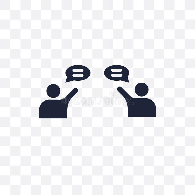 Ícone transparente do debate Projeto do símbolo do debate do colo político ilustração do vetor