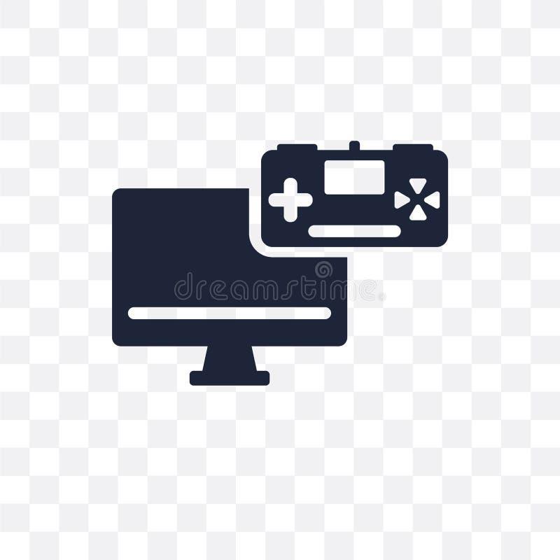 Ícone transparente do desenvolvimento do jogo Desig do símbolo do desenvolvimento do jogo ilustração royalty free