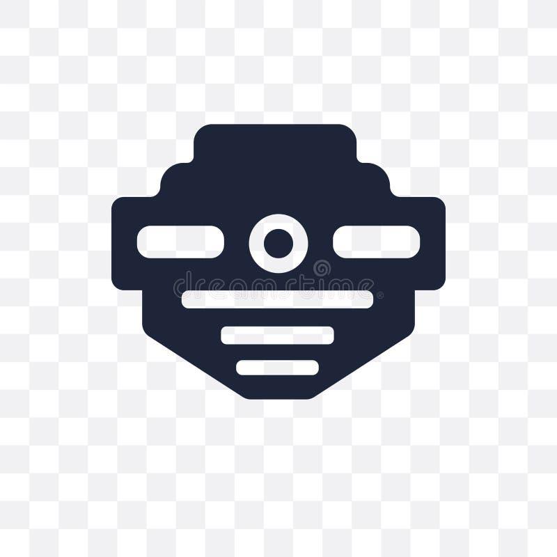 ícone transparente do detector de fumo projeto franco do símbolo do detector de fumo ilustração stock