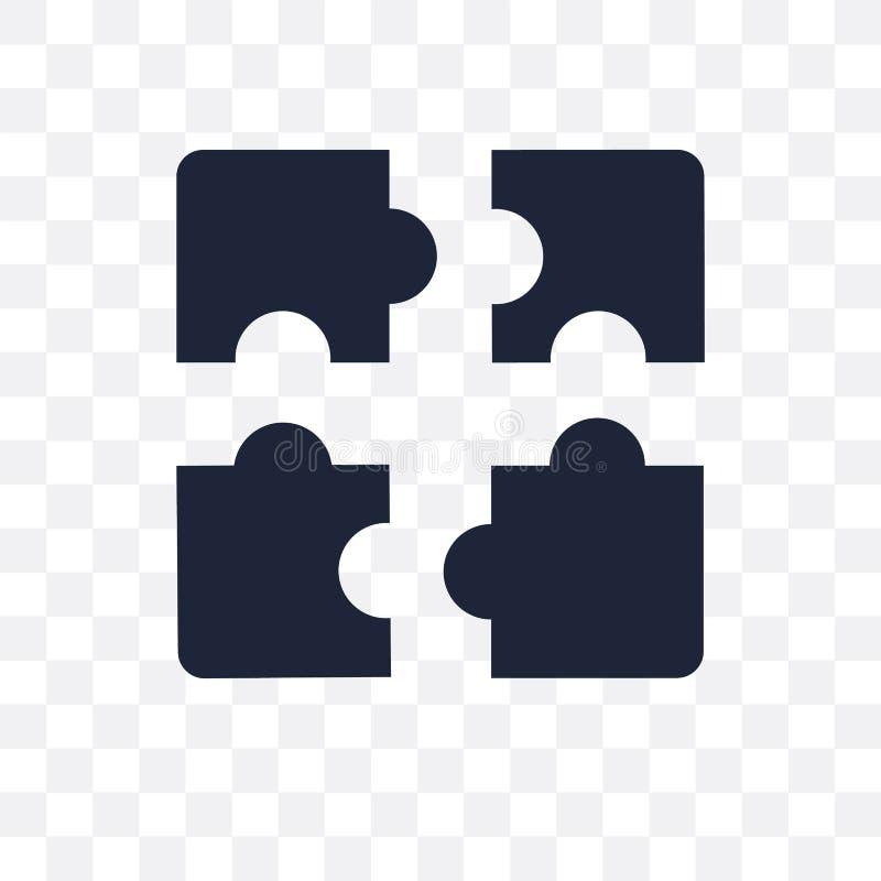 Ícone transparente do enigma Projeto do símbolo do enigma do coll da estratégia ilustração royalty free