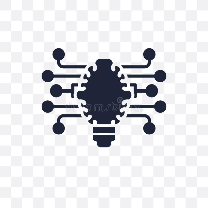Ícone transparente do motor de diferença DES do símbolo do motor de diferença ilustração stock