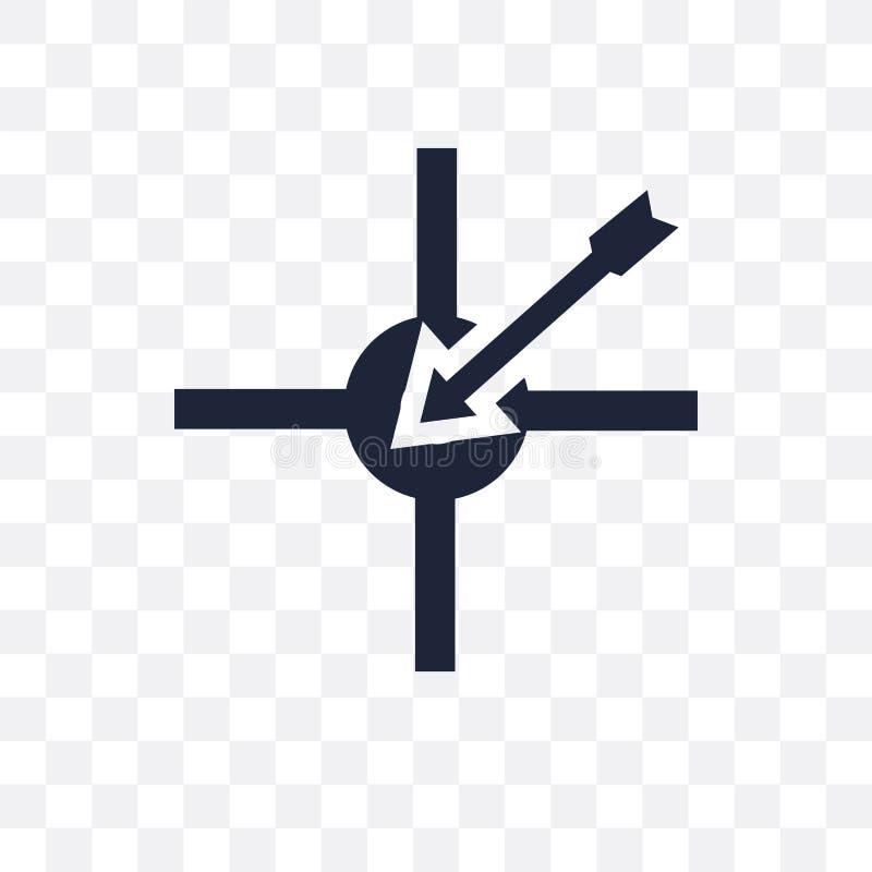 Ícone transparente do objetivo Projeto do símbolo do objetivo do collectio do sucesso ilustração stock
