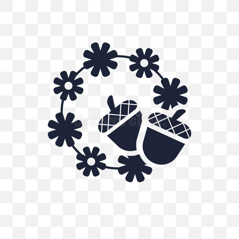 Ícone transparente do ornamento da ação de graças Ornamento da ação de graças sy ilustração stock