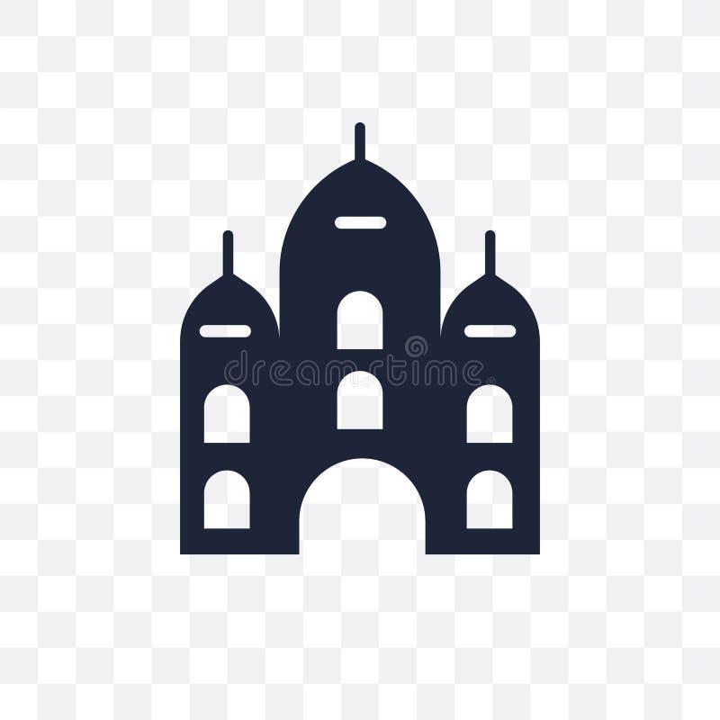 Ícone transparente do palácio Projeto do símbolo do palácio do conto de fadas co ilustração royalty free