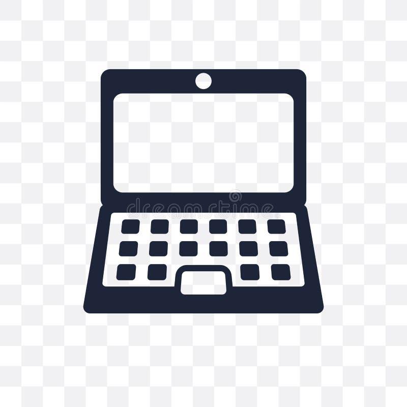 Ícone transparente do portátil Projeto do símbolo do portátil do de eletrônico ilustração stock