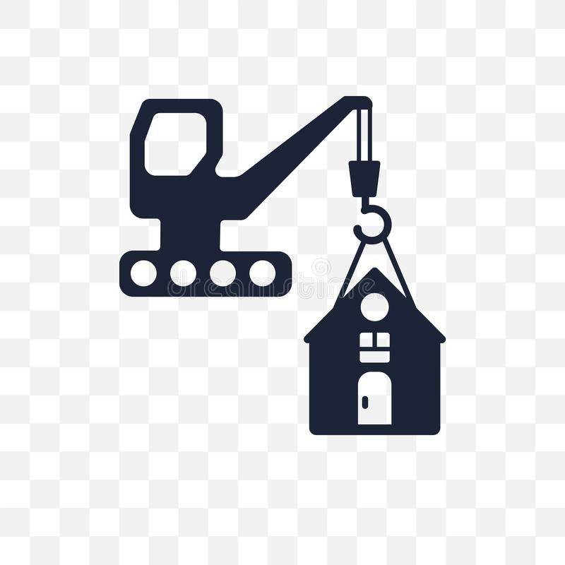 ícone transparente do risco da construção DES do símbolo do risco da construção ilustração stock