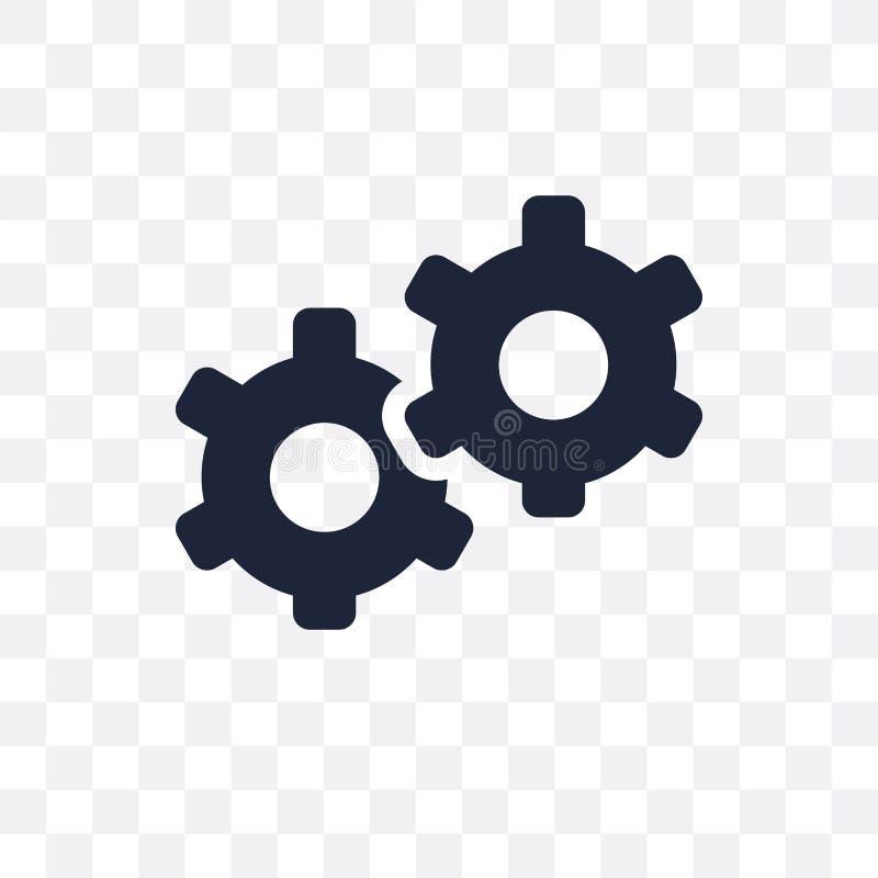 Ícone transparente do serviço Projeto do símbolo do serviço do negócio co ilustração royalty free