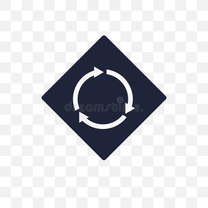 ícone transparente do sinal circular da interseção intersecti circular ilustração stock