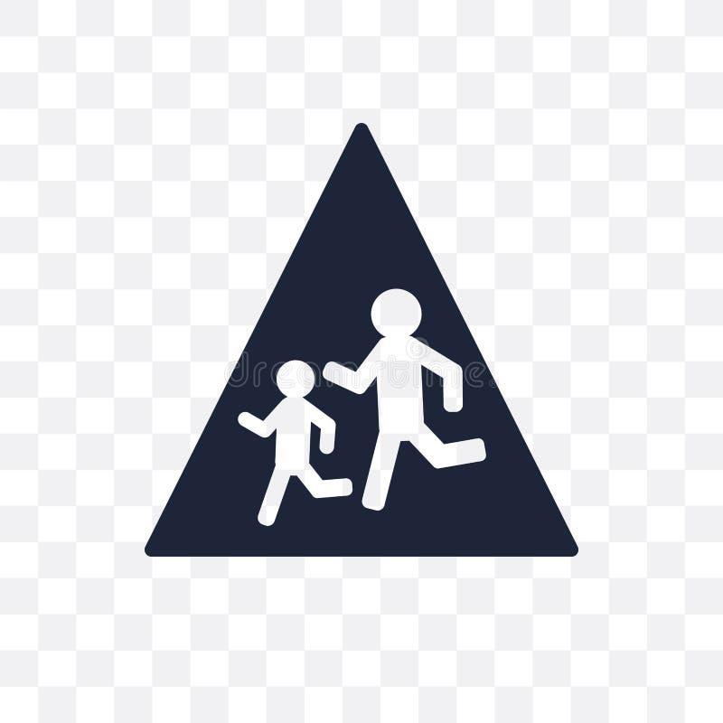 ícone transparente do sinal da escola adiante DES do símbolo do sinal da escola adiante ilustração do vetor