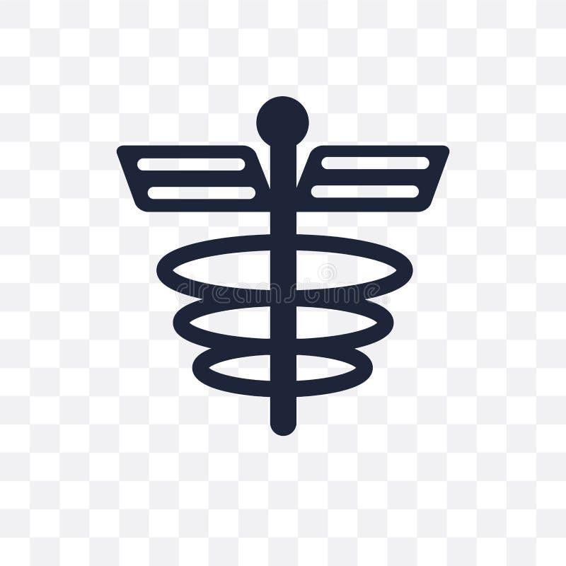 Ícone transparente do sinal da farmácia Projeto do símbolo do sinal da farmácia de ilustração stock