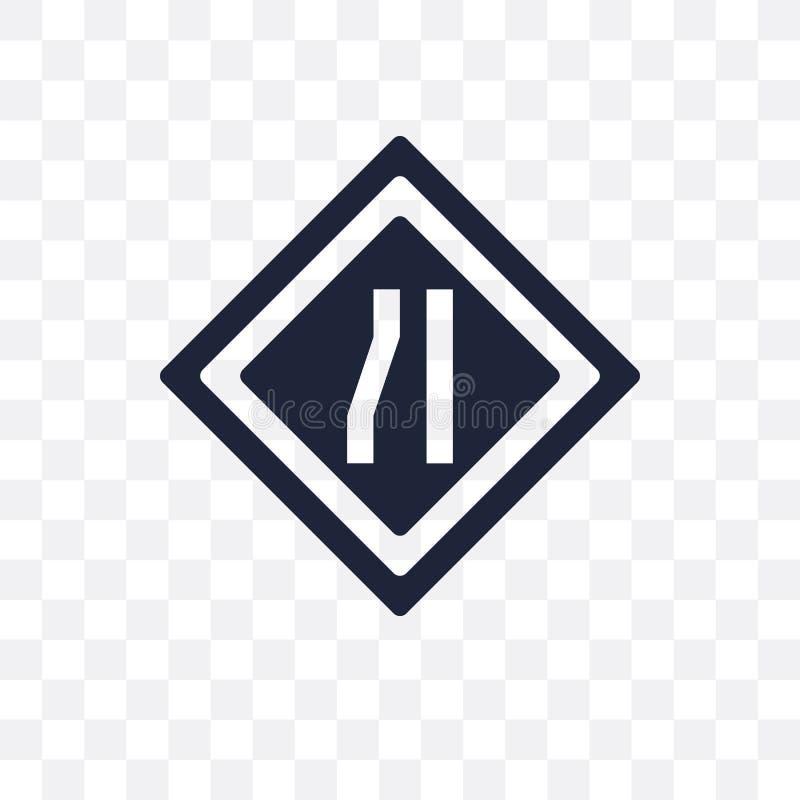 Ícone transparente do sinal da pista Projeto do símbolo do sinal da pista do tráfego ilustração royalty free
