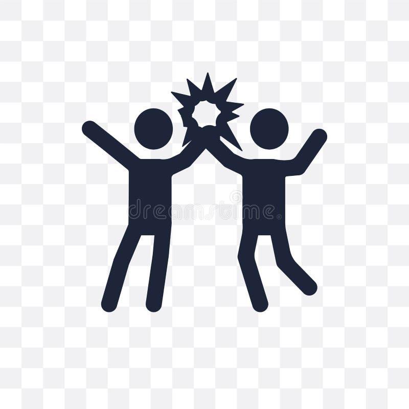 Ícone transparente do sucesso Projeto do símbolo do sucesso do colo do sucesso ilustração royalty free