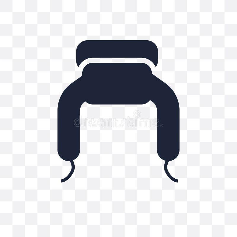 ícone transparente do ushanka projeto do símbolo do ushanka do colo da roupa ilustração stock