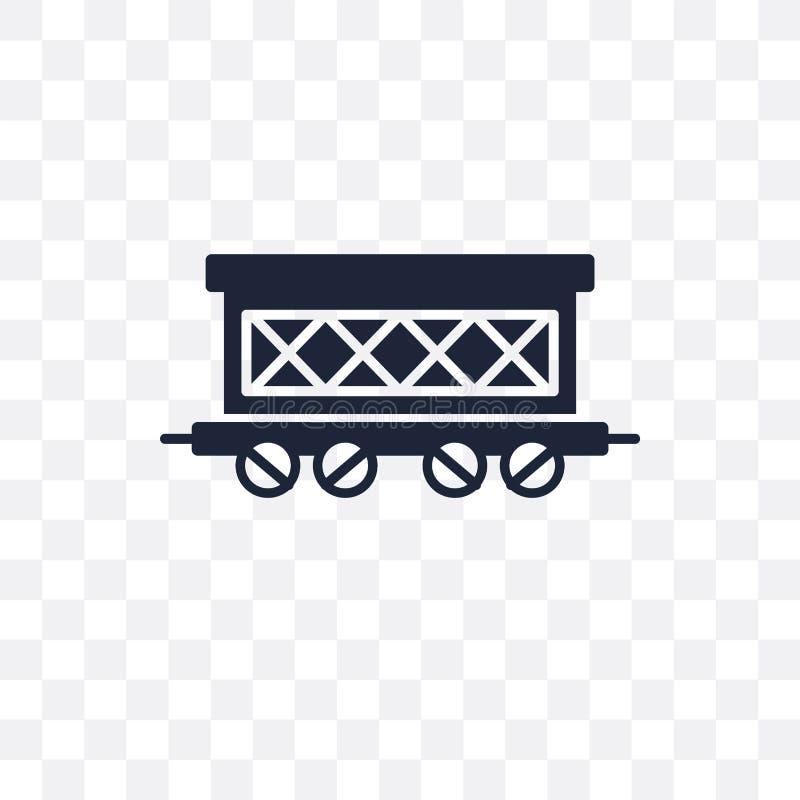 Ícone transparente do vagão Projeto do símbolo do vagão do transporte ilustração stock