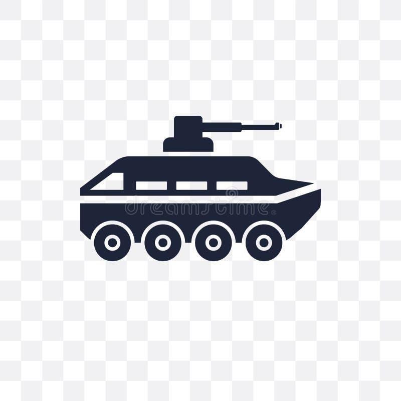 Ícone transparente do veículo blindado Projeto do símbolo do veículo blindado ilustração royalty free