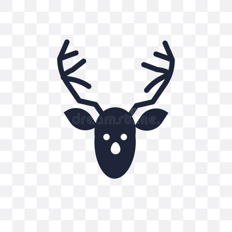 Ícone transparente dos cervos Projeto do símbolo dos cervos do Natal para recolher ilustração royalty free