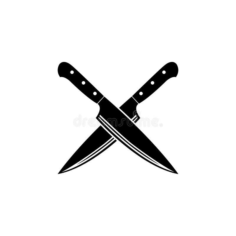 ícone transversal da faca ilustração do vetor