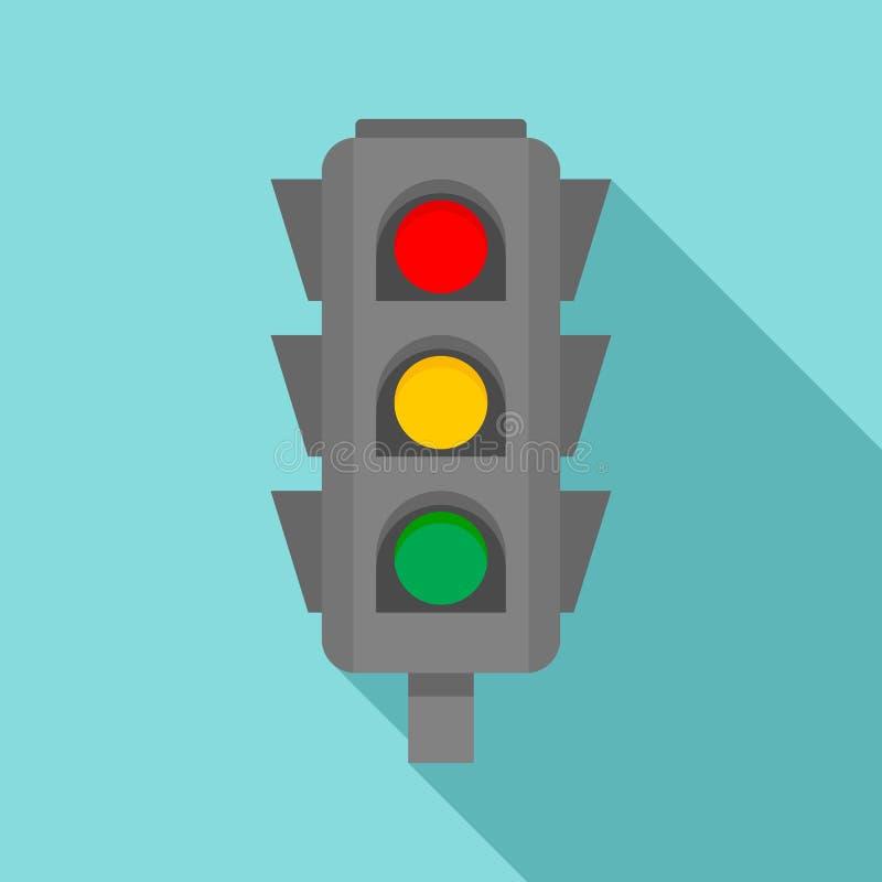 Ícone transversal dos sinais da estrada, estilo liso ilustração royalty free