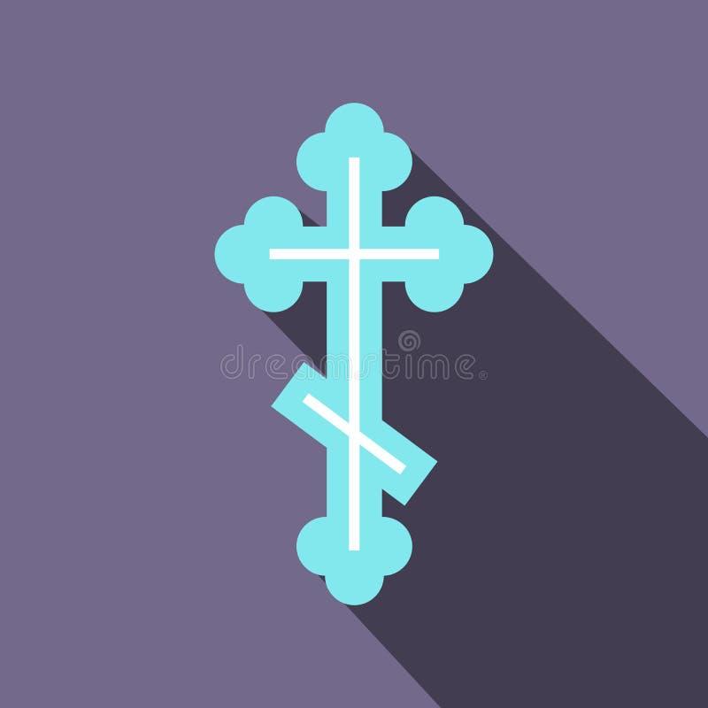 Ícone transversal ortodoxo, estilo liso ilustração do vetor