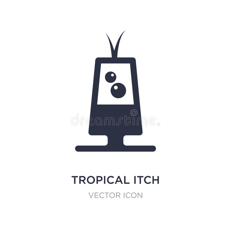 ícone tropical do comichão no fundo branco Ilustração simples do elemento do conceito das bebidas ilustração stock