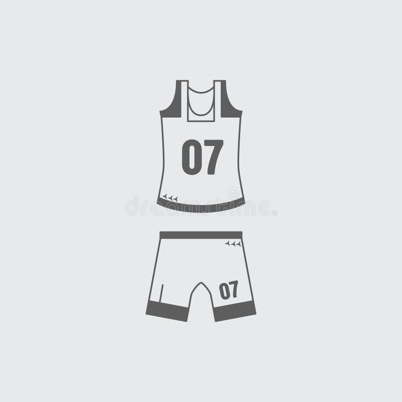 ?cone uniforme do basquetebol liso branco preto ilustração royalty free