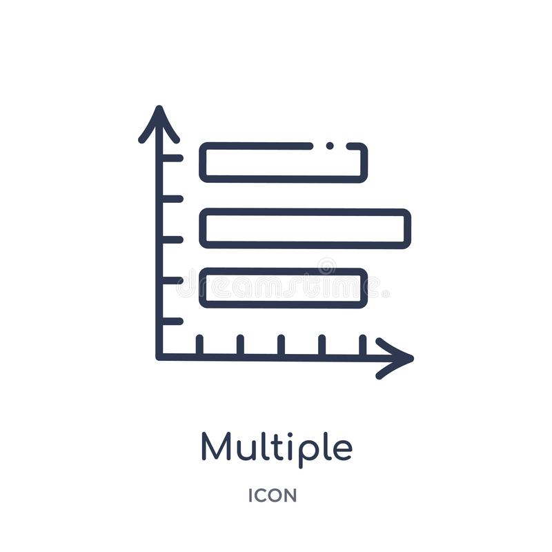 ícone variável múltiplo das barras verticais da coleção do esboço da interface de usuário Linha fina ícone variável múltiplo das  imagem de stock
