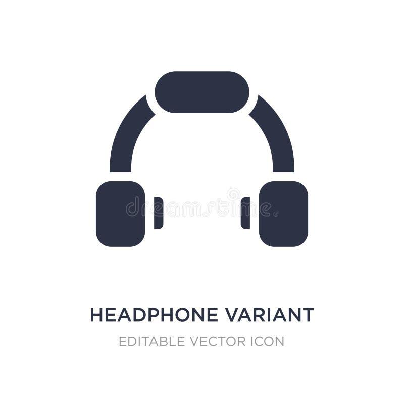 ícone variante do fones de ouvido no fundo branco Ilustração simples do elemento do conceito das ferramentas e dos utensílios ilustração do vetor