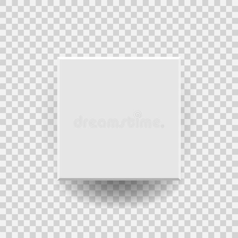 Ícone vazio branco do vetor da caixa de cartão do pacote no estilo liso 3d ilustração do vetor