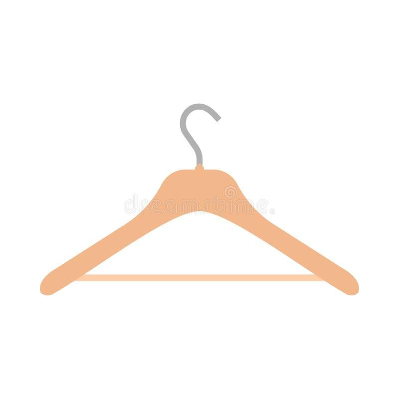 Ícone vazio do vetor do equipamento do objeto do símbolo ocasional do desgaste do gancho Cremalheira acessória do vestuário liso  ilustração stock