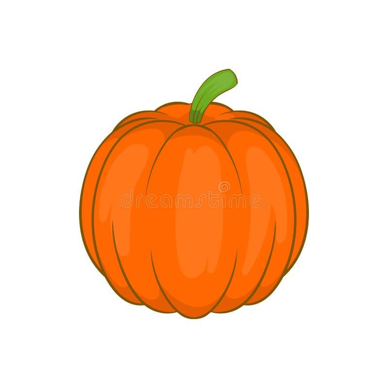 Ícone vegetal da abóbora de outono, estilo dos desenhos animados ilustração do vetor