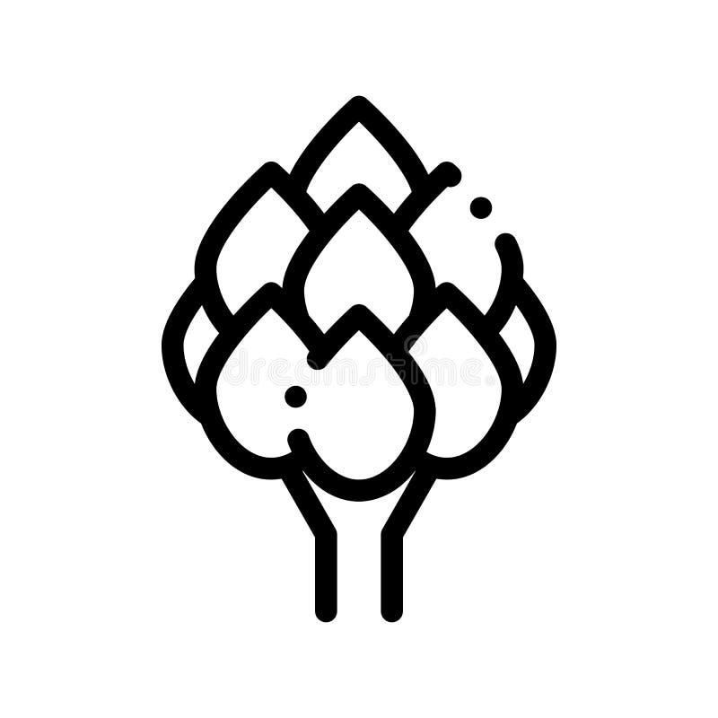 Ícone vegetal do sinal do vetor da alcachofra do alimento saudável ilustração stock
