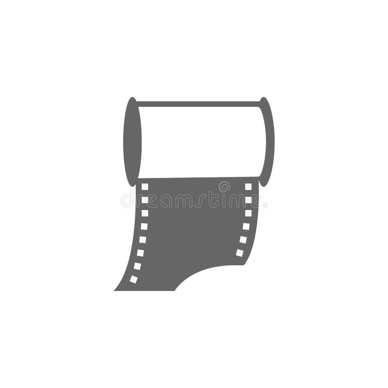 Ícone velho da câmera da foto do rolo Ilustração simples do elemento Projeto do símbolo da coleção da câmera da foto Pode ser usa ilustração stock