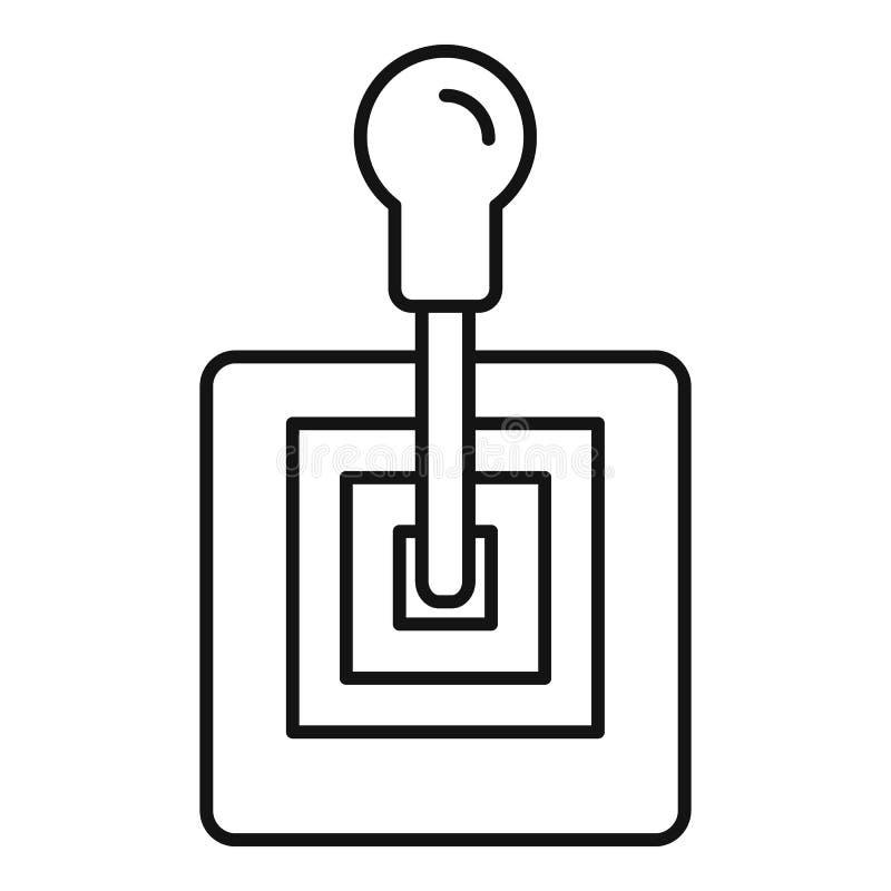 Ícone velho da caixa de engrenagens, estilo do esboço ilustração stock