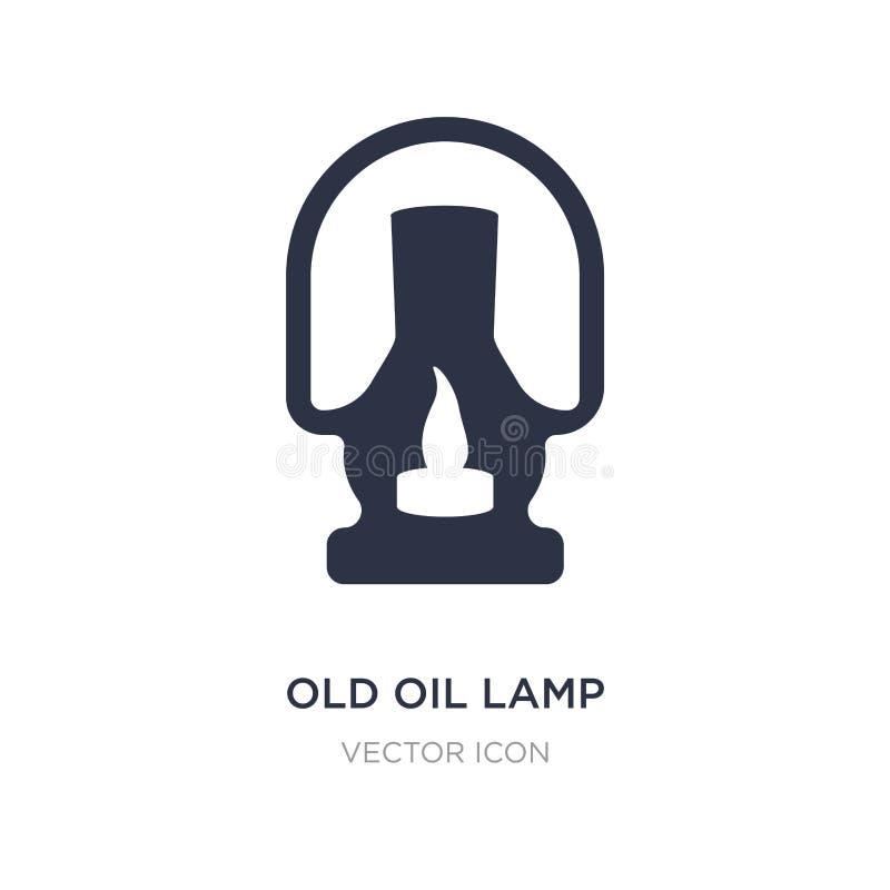 ícone velho da lâmpada de óleo no fundo branco Ilustração simples do elemento do conceito da religião ilustração royalty free
