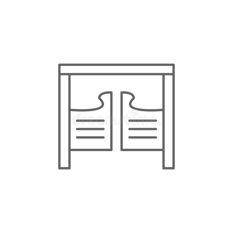 ícone velho ocidental do esboço do bar Elementos do ícone da ilustração do Dia da Independência Os sinais e os s?mbolos podem ser ilustração stock