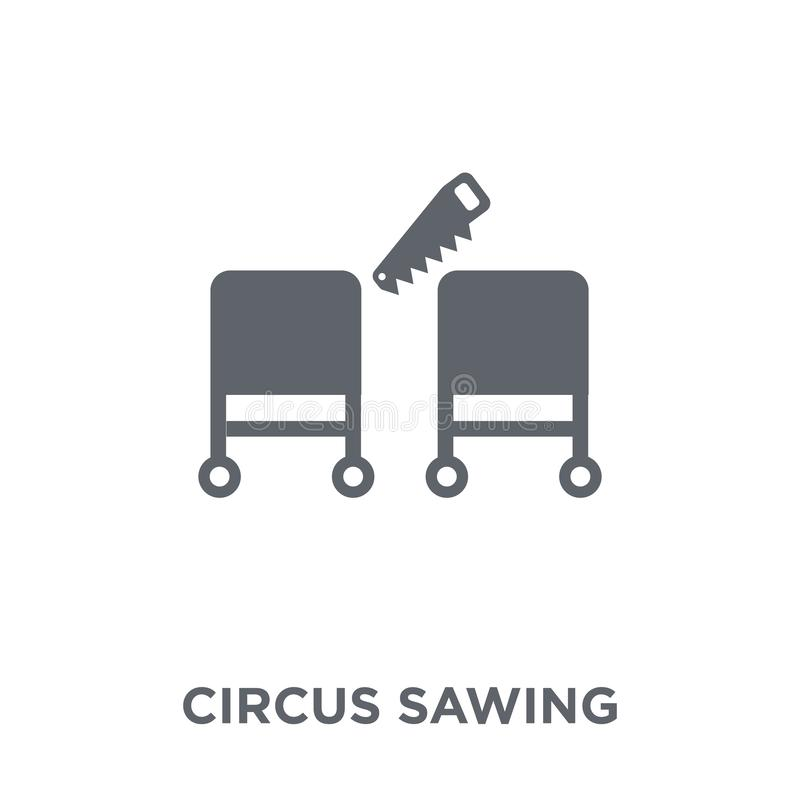 Ícone vendo do circo da coleção do circo ilustração royalty free