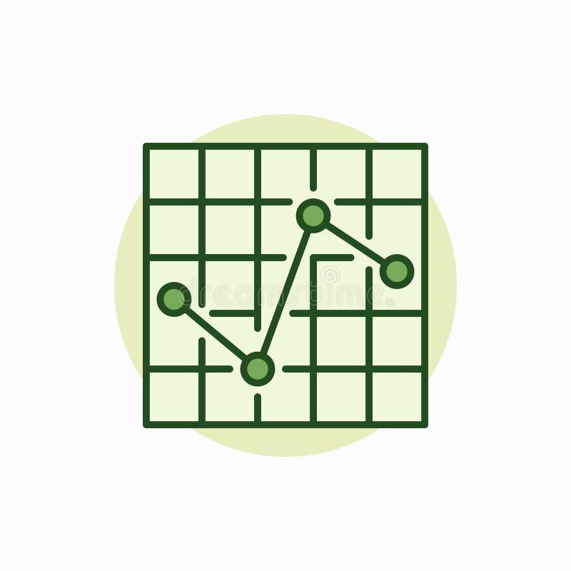 Ícone verde da carta ilustração royalty free